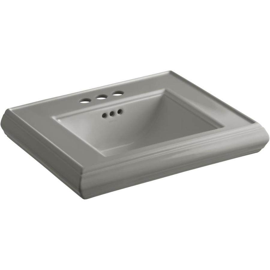 KOHLER Memoirs 24-in L x 19.75-in W Cashmere Fire Clay Rectangular Pedestal Sink Top
