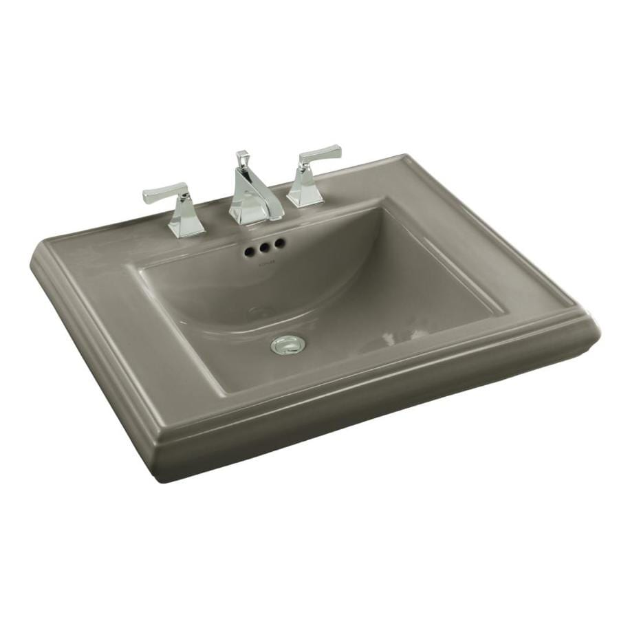 KOHLER Memoirs 27-in L x 22-in W Cashmere Fire Clay Rectangular Pedestal Sink Top