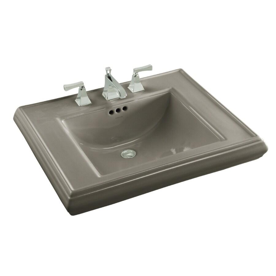 KOHLER 27-in L x 22-in W Cashmere Fire Clay Pedestal Sink Top