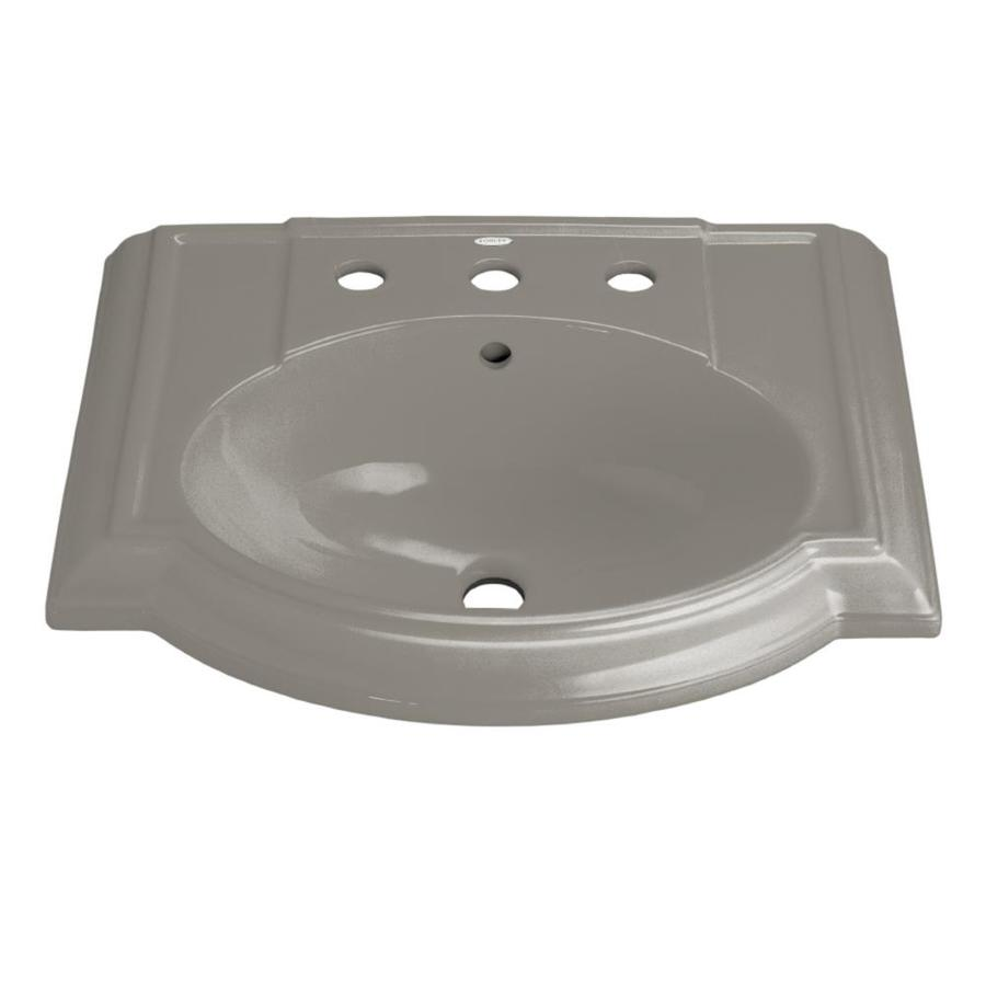 Shop kohler devonshire l x w cashmere vitreous china oval pedestal sink top at - Kohler devonshire reviews ...