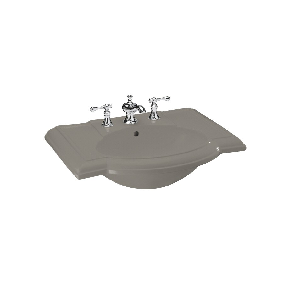 KOHLER 27.5-in L x 19.875-in W Cashmere Vitreous China Pedestal Sink Top