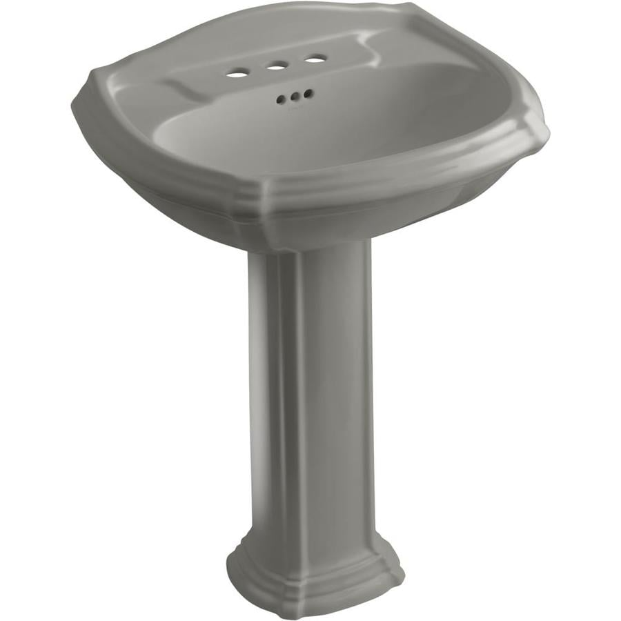 KOHLER Portrait 36.5-in H Cashmere Vitreous China Pedestal Sink