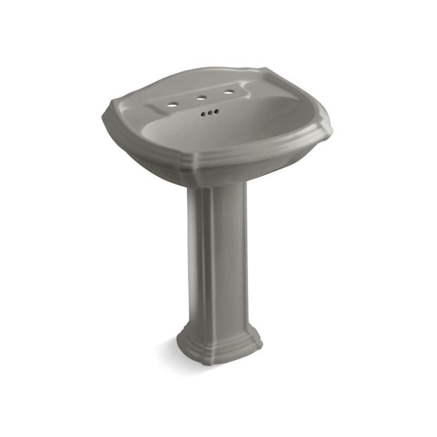 Kohler Portrait 36 5 In H Cashmere Vitreous China Pedestal