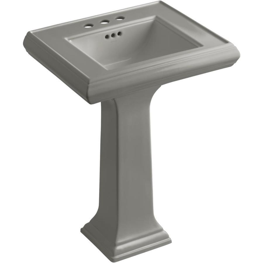 KOHLER Memoirs 34.38-in H Cashmere Fire Clay Pedestal Sink