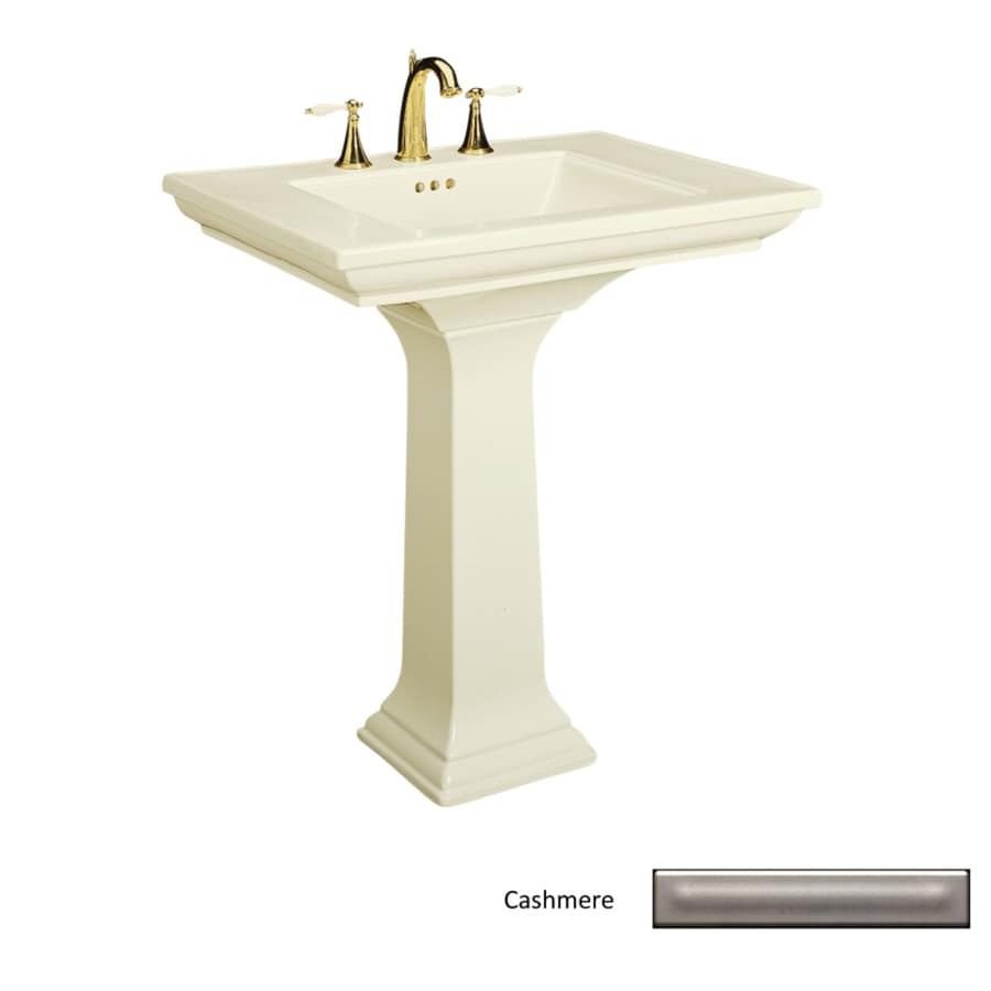 KOHLER Memoirs 34.75-in H Cashmere Fire Clay Pedestal Sink
