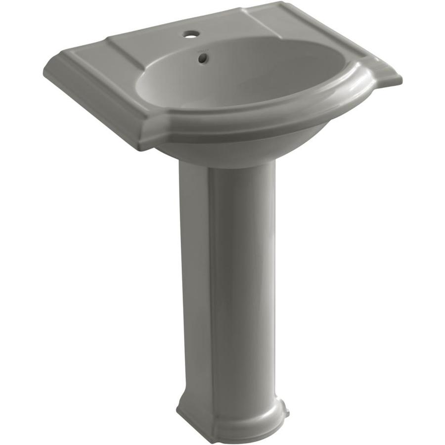 KOHLER Devonshire 33.5-in H Cashmere Vitreous China Pedestal Sink