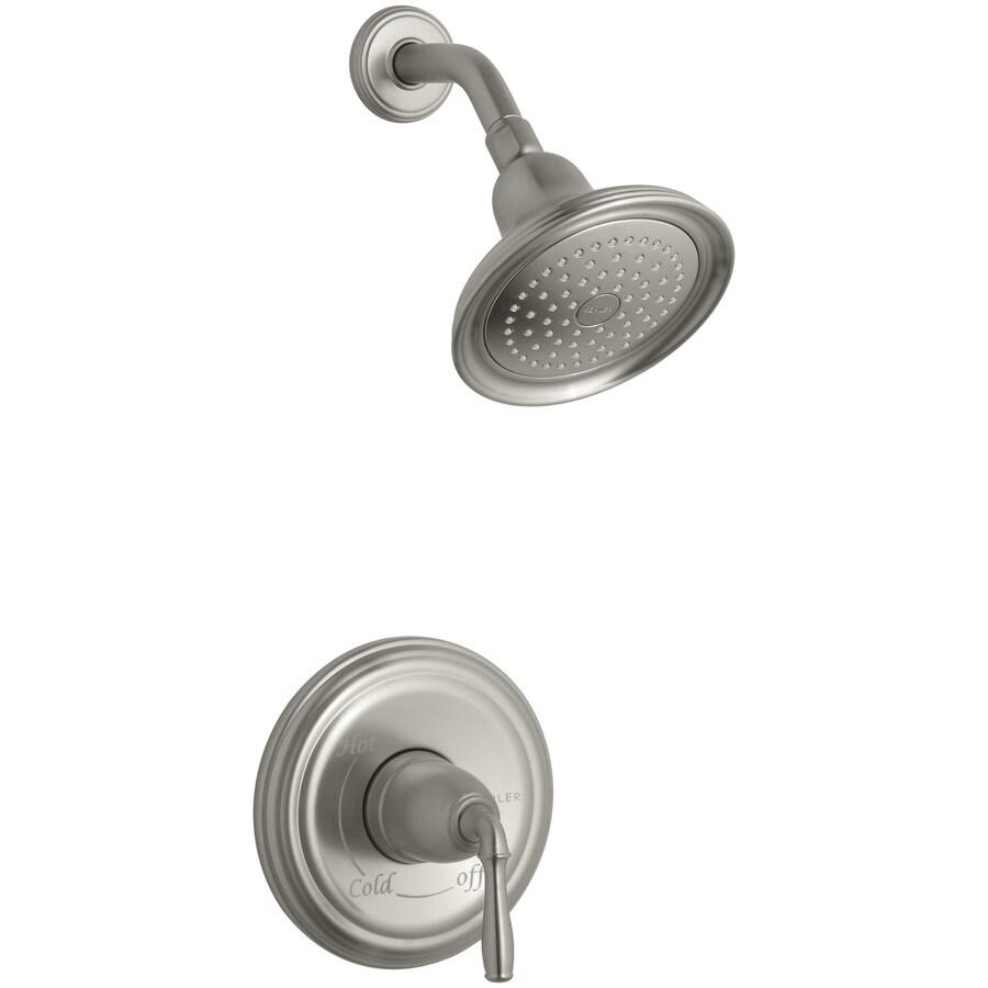KOHLER Devonshire Vibrant Brushed Nickel 1-Handle Shower Faucet Trim Kit with Single Function Showerhead