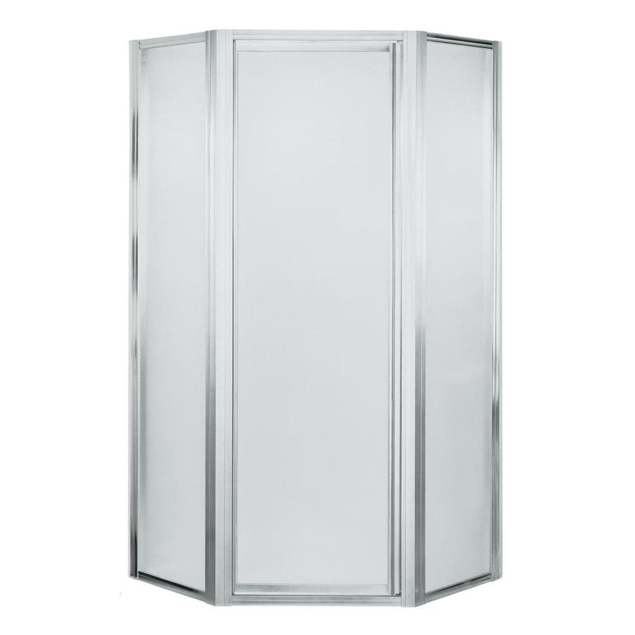 Sterling Silver Neo-Angle Shower Door