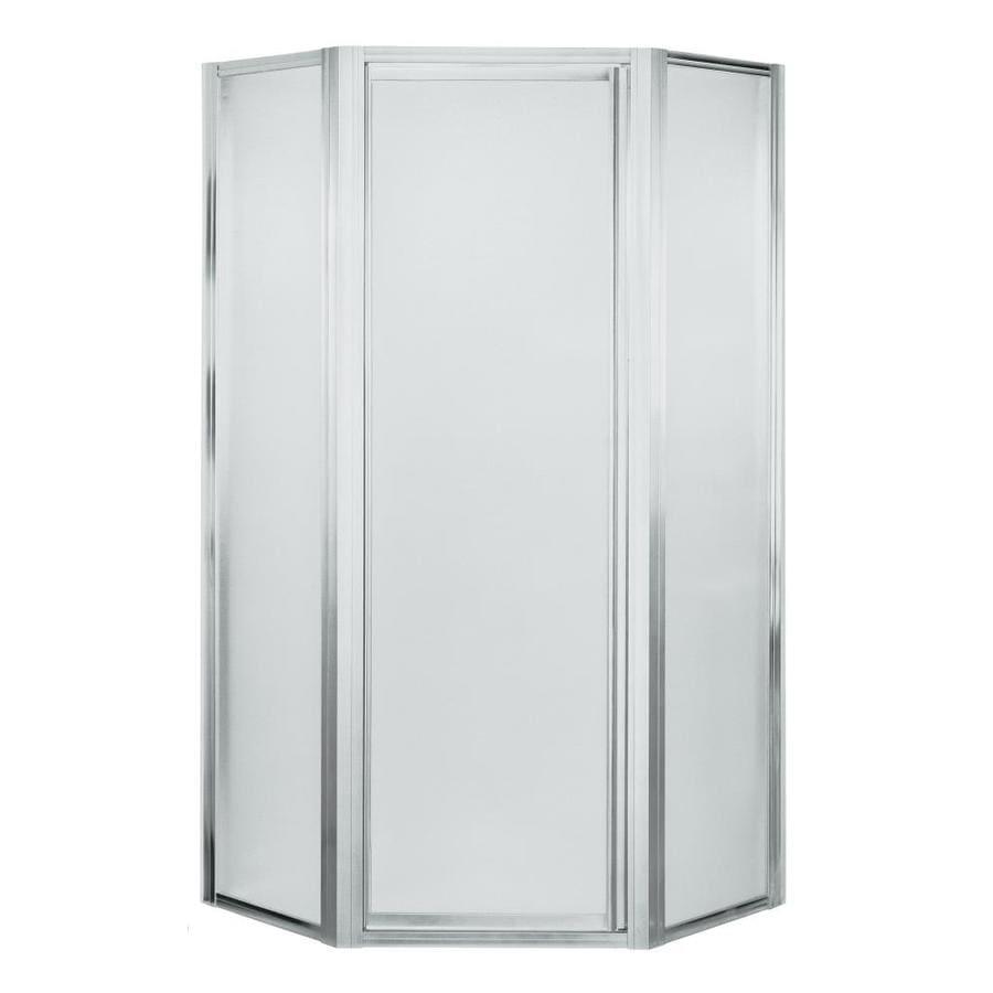 Sterling Framed Silver Shower Door