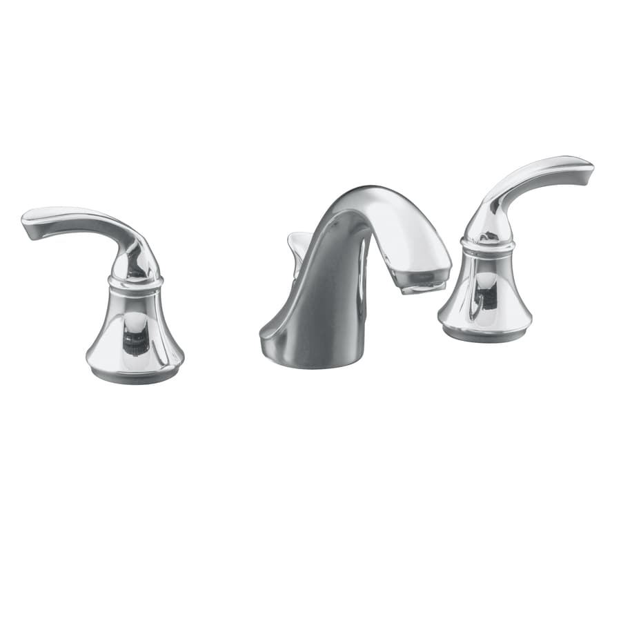 Shop KOHLER Forte Polished Chrome 2 Handle Widespread Commercial Bathroom Fau