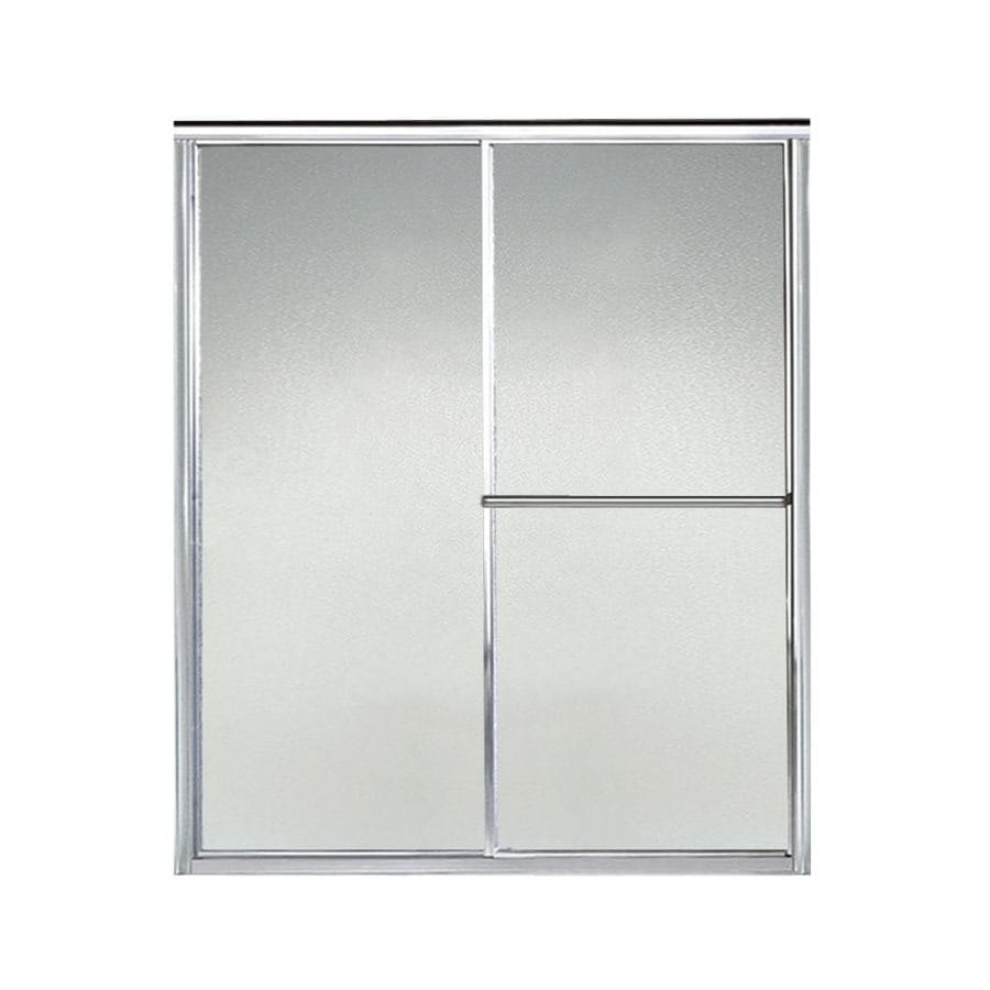 Sterling Deluxe 52.38-in to 57.375-in W x 65.5-in H Silver Sliding Shower Door