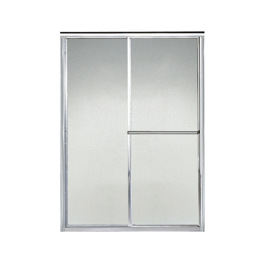 Sterling Deluxe 49.5-in to 54.5-in W Framed Silver Sliding Shower Door