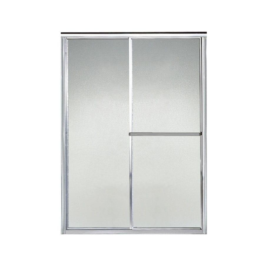 Sterling Deluxe 49.5-in to 54.5-in Framed Silver Sliding Shower Door