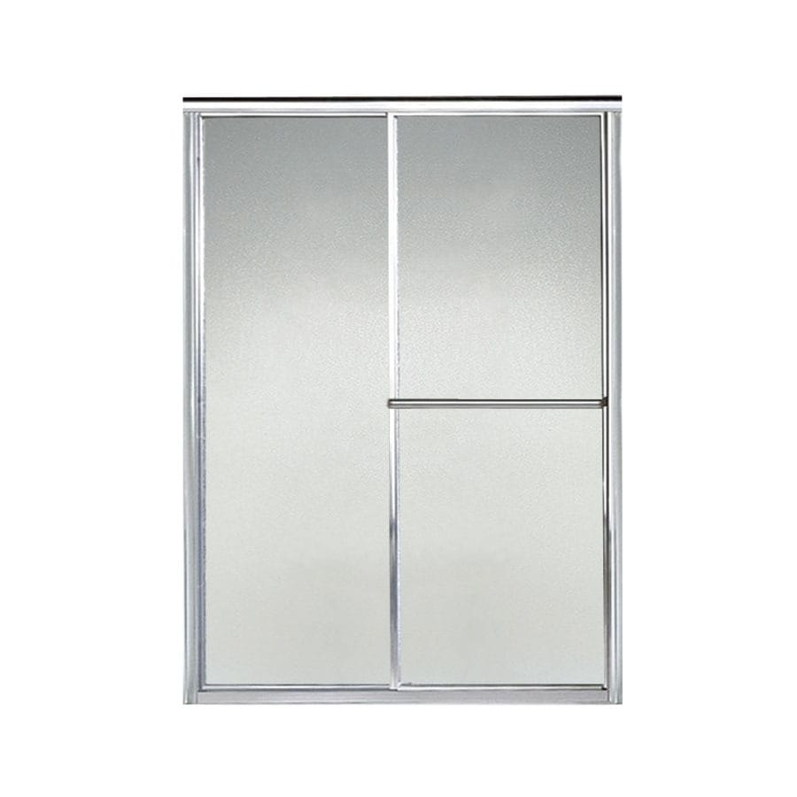 Sterling Deluxe 46.5-in to 51.25-in W x 65.5-in H Silver Sliding Shower Door