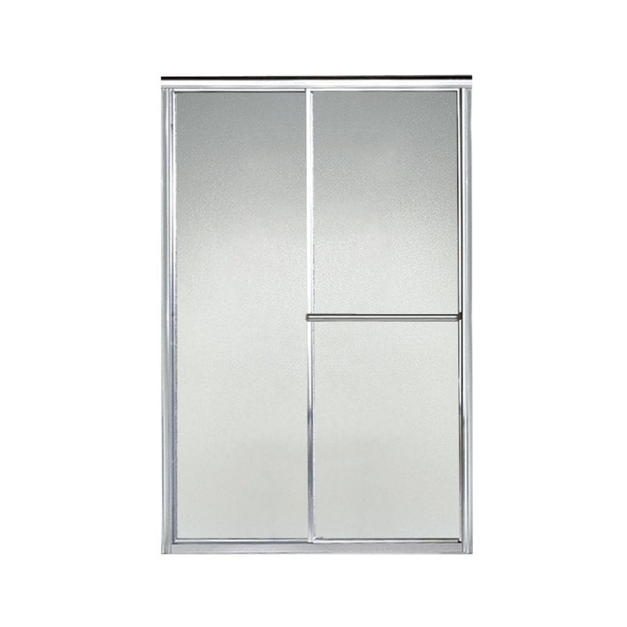 Sterling Deluxe 41.5-in to 46.5-in W x 70-in H Silver Sliding Shower Door
