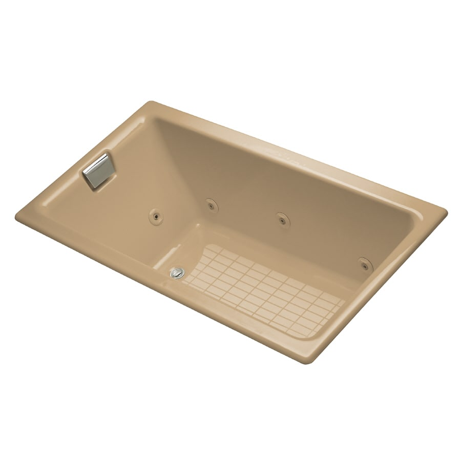 KOHLER 66-in Mexican Sand Cast Iron Whirlpool Tub