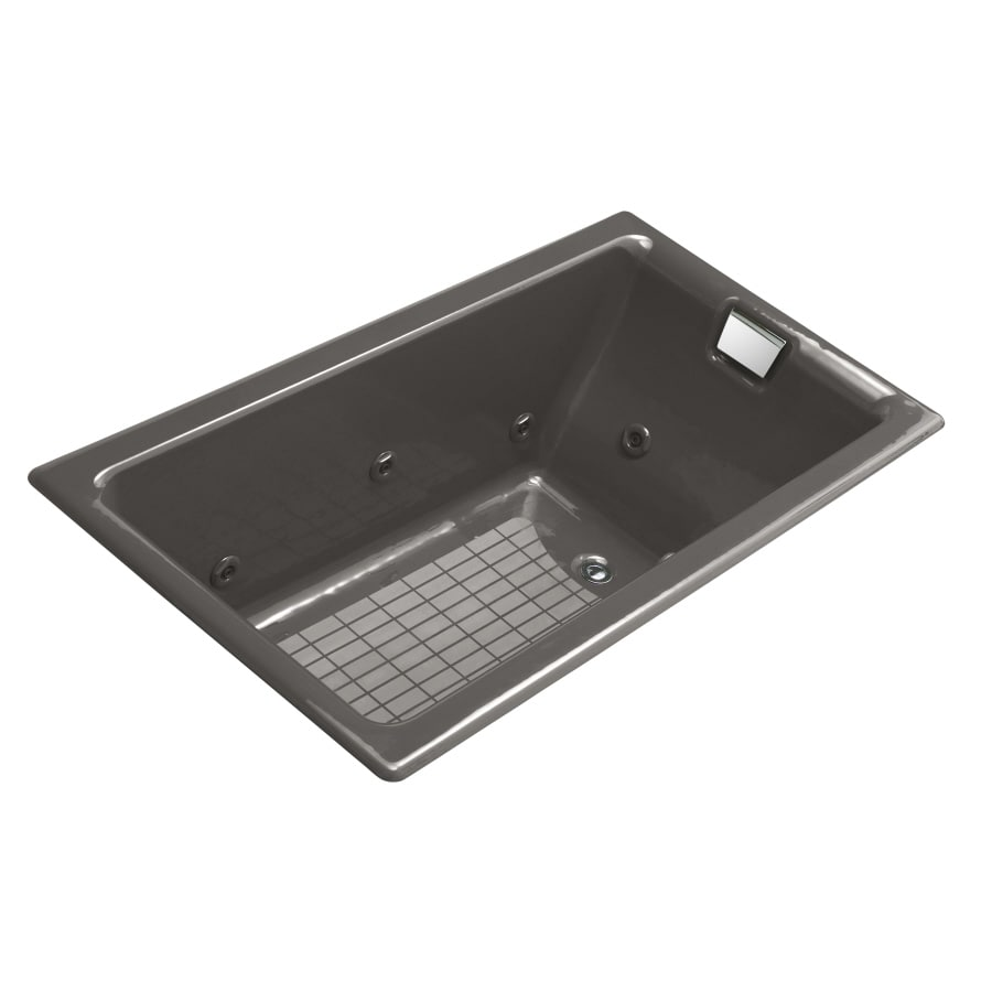 KOHLER Thunder Grey Cast Iron Rectangular Whirlpool Tub (Common: 36-in x 66-in; Actual: 24-in x 36-in)