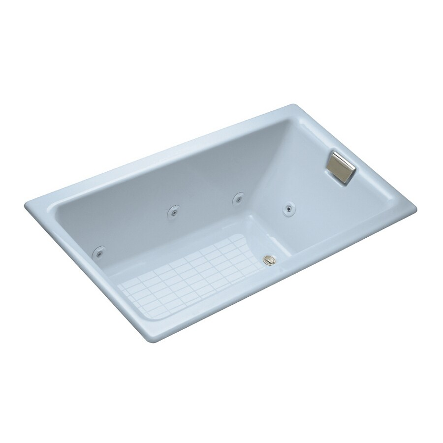 Shop KOHLER Skylight Cast Iron Drop-In Jetted Whirlpool Tub at Lowes.com