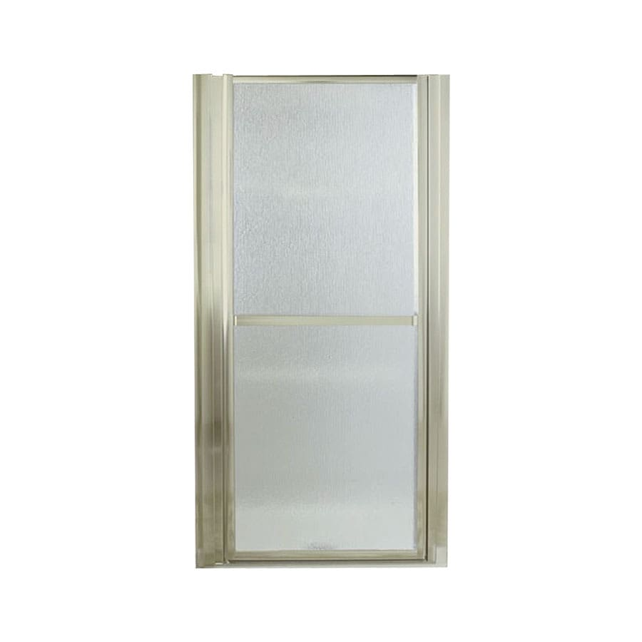 Sterling Finesse 30.5-in to 33.5-in W Framed Brushed Nickel Hinged Shower Door