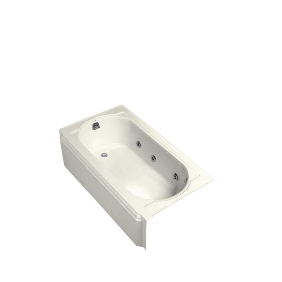 Kohler Memoirs 60 In Biscuit Cast Iron Oval In Rectangle