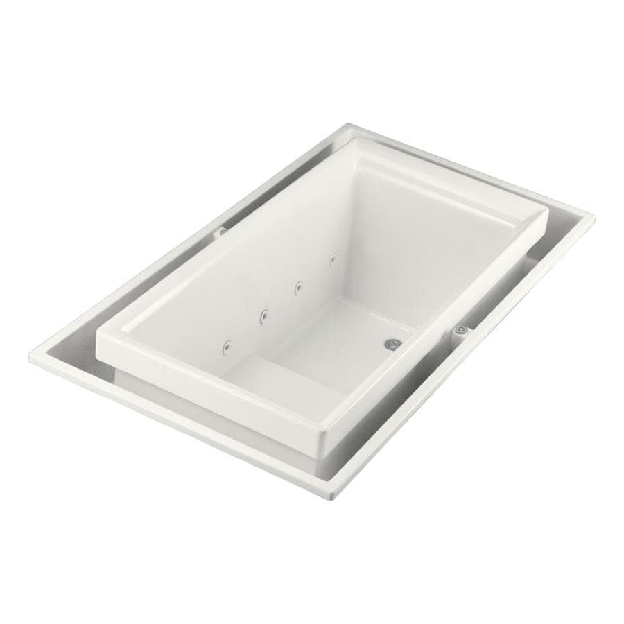 KOHLER Sok White Acrylic Rectangular Drop-in Bathtub with Right-Hand Drain (Common: 41-in x 75-in; Actual: 25-in x 41-in x 75-in)