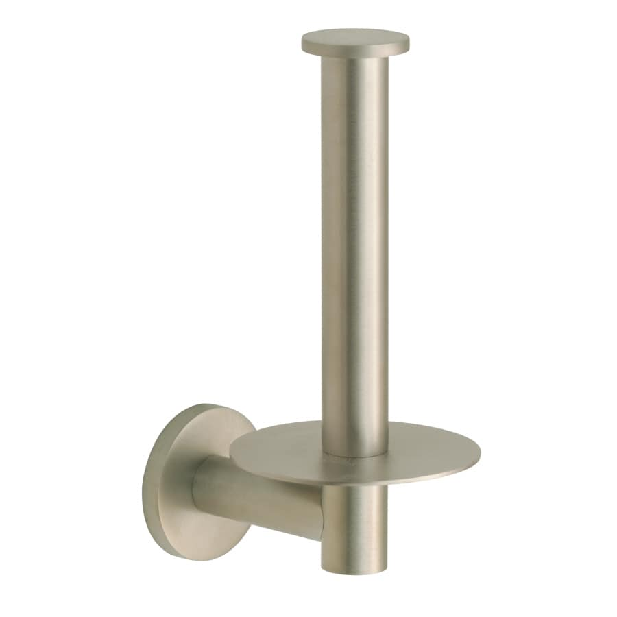 KOHLER Stillness Vibrant Brushed Nickel Surface Mount Single Post with Arm Toilet Paper Holder