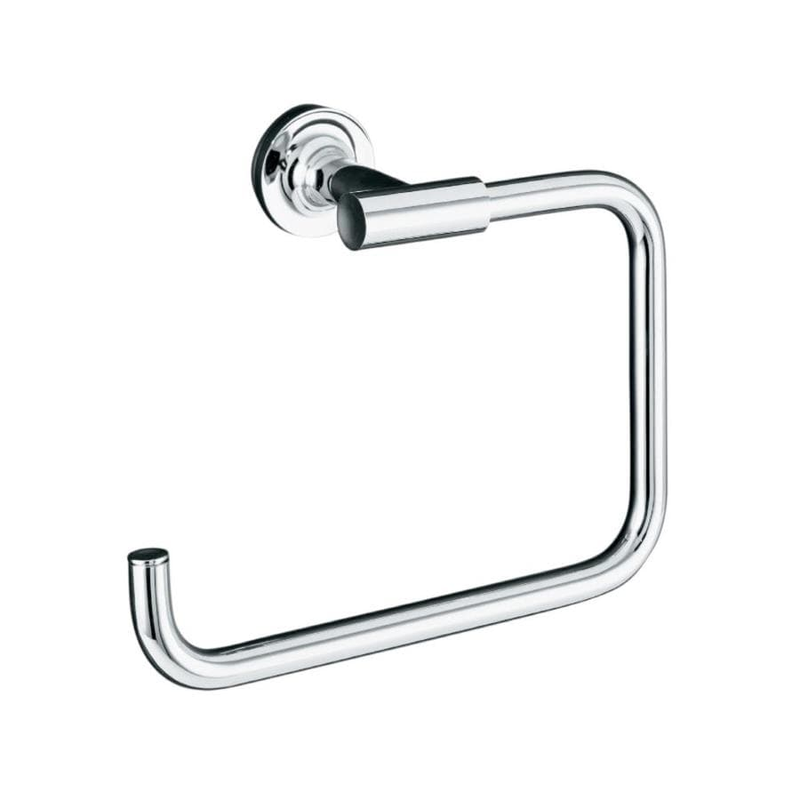 KOHLER Purist Polished Chrome Wall Mount Towel Ring