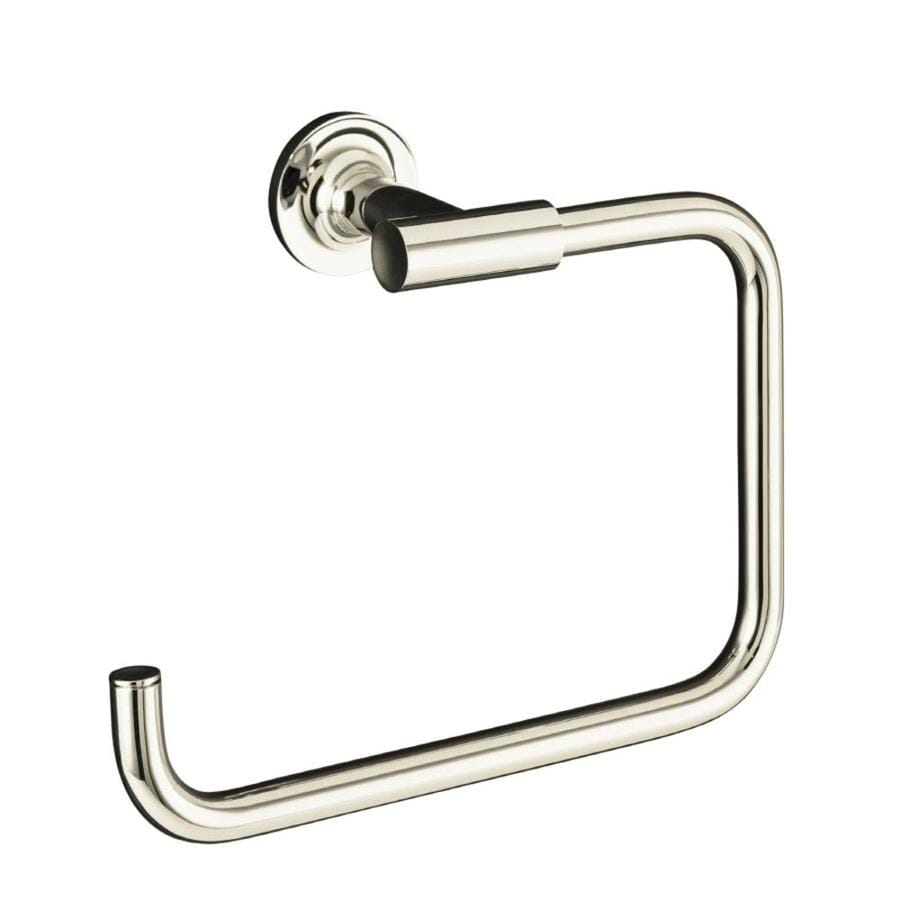 KOHLER Purist Vibrant Polished Nickel Wall Mount Towel Ring