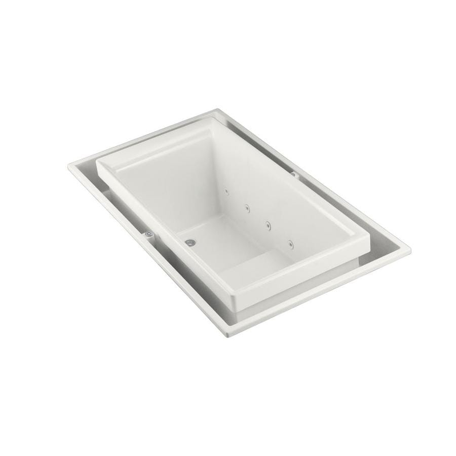 KOHLER Sok 75-in White Acrylic Drop-In Bathtub with Left-Hand Drain