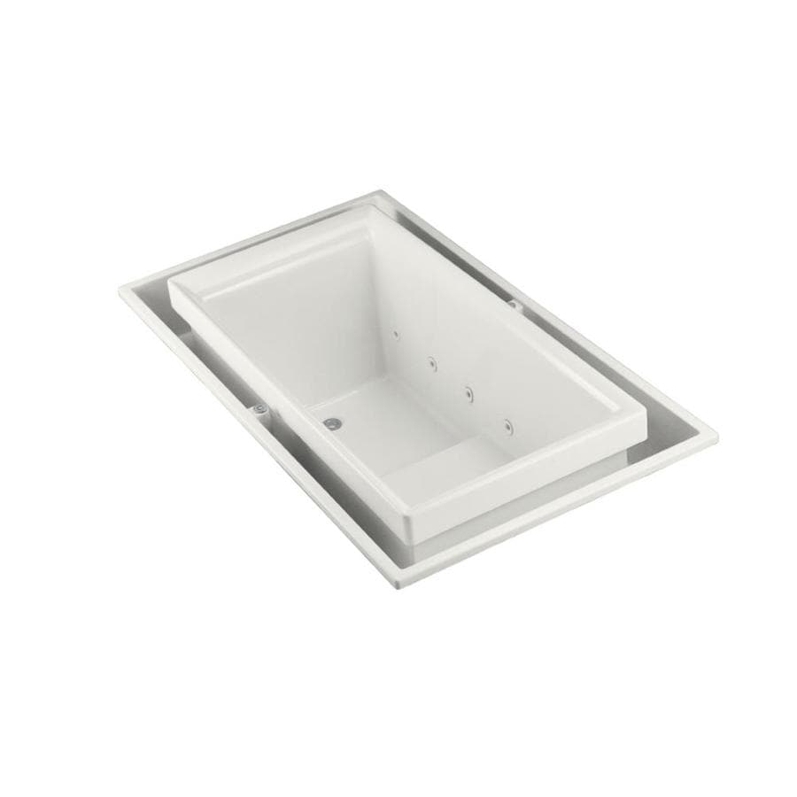 KOHLER Sok White Acrylic Rectangular Drop-in Bathtub with Left-Hand Drain (Common: 41-in x 75-in; Actual: 25-in x 41-in x 75-in)