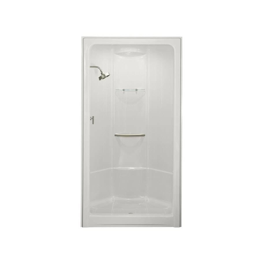 Marvelous KOHLER Sonata White Acrylic One Piece Shower (Common: 36 In X 48