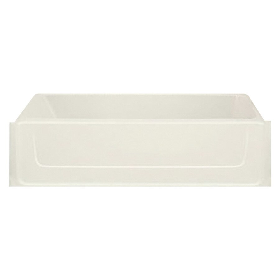 Sterling All Pro 60.25-in Biscuit Vikrell Skirted Bathtub with Left-Hand Drain