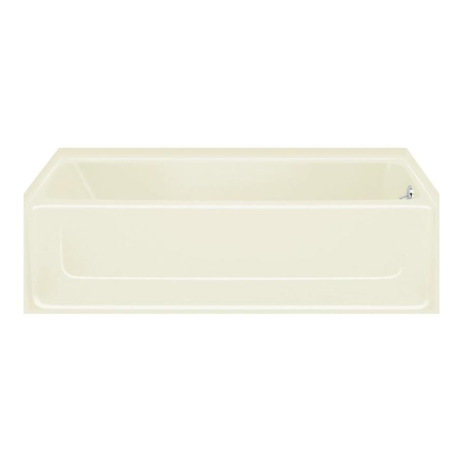Sterling All Pro 60.25-in Biscuit Vikrell Skirted Bathtub with Right-Hand Drain