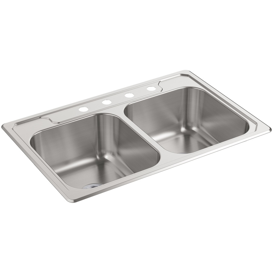 Sterling Kitchen Sink : ... Basin Stainless Steel Drop-In 4-Hole Residential Kitchen Sink at Lowes