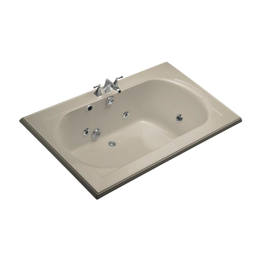 KOHLER Memoirs 2-Person Sandbar Acrylic Oval In Rectangle Whirlpool Tub (Common: 42-in x 72-in; Actual: 22-in x 42-in x 72-in)