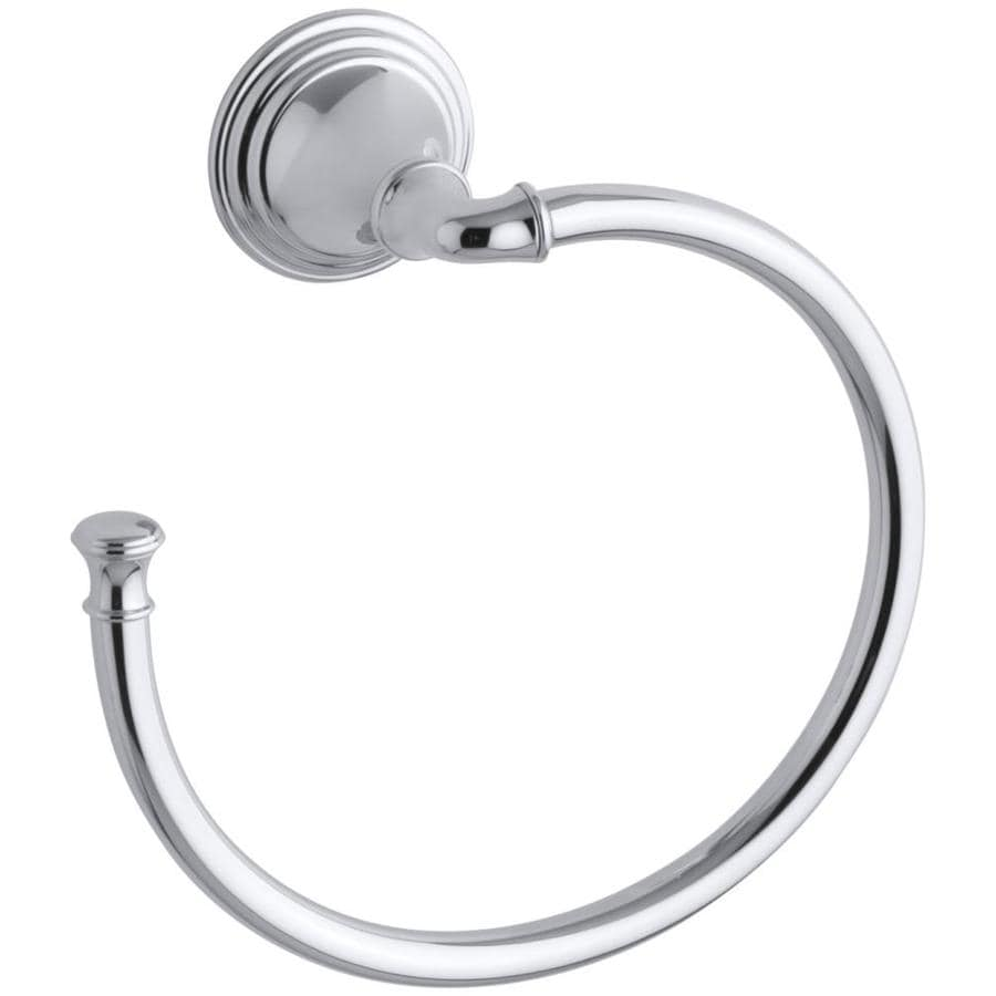 KOHLER Devonshire Polished Chrome Wall-Mount Towel Ring