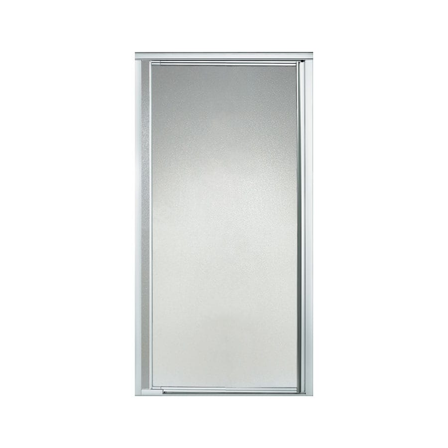 Sterling 36-in to 42-in Silver Framed Pivot Shower Door