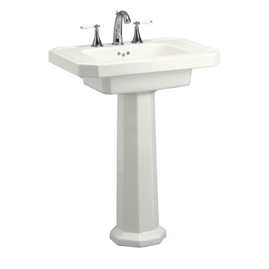 Shop Kohler Kathryn 35 In H White Fire Clay Pedestal Sink