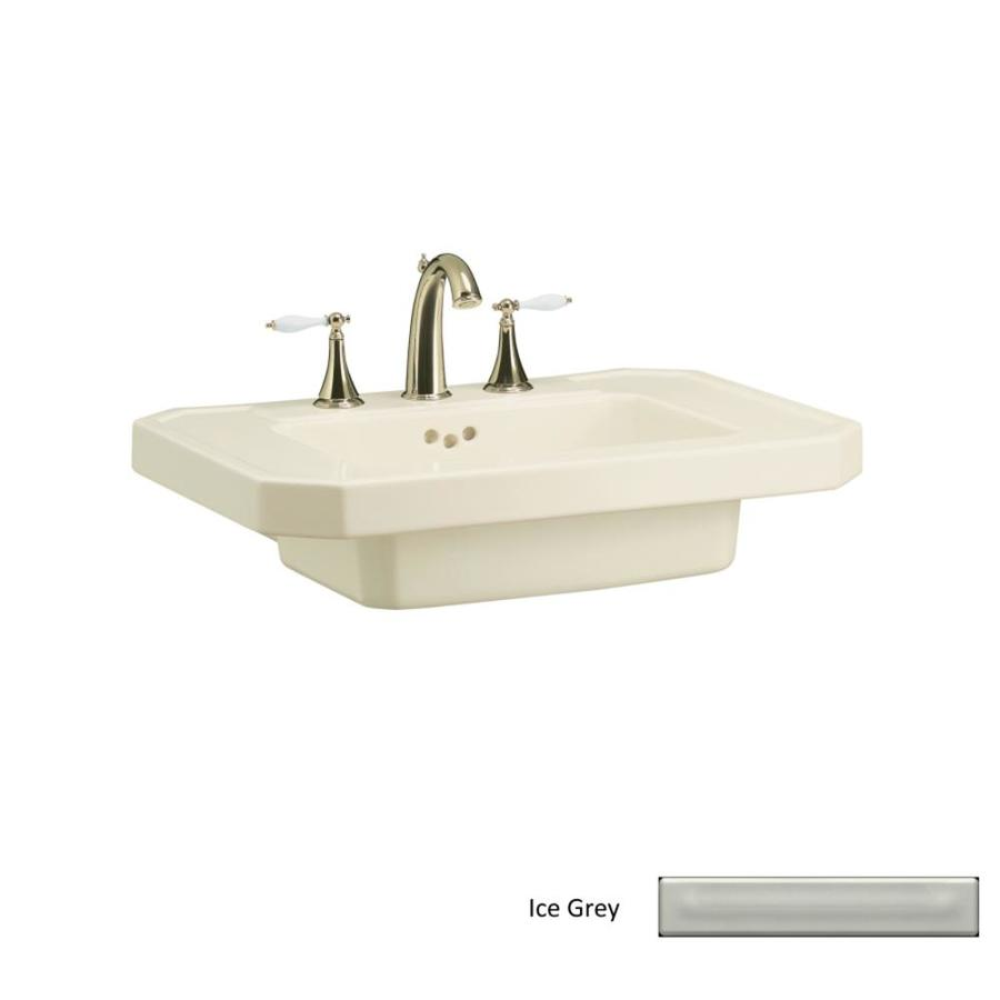 KOHLER Kathryn 27-in L x 20-in W Ice Grey Fire Clay Rectangular Pedestal Sink Top