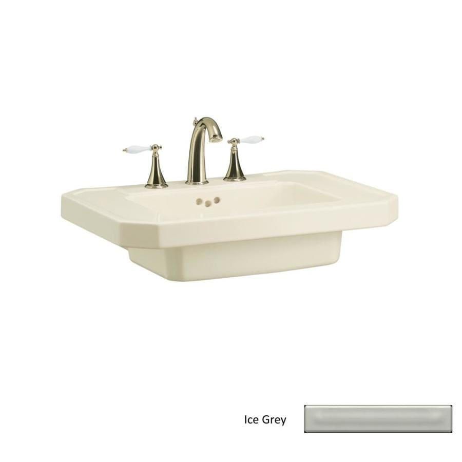 KOHLER 27-in L x 20-in W Ice Grey Fire Clay Pedestal Sink Top