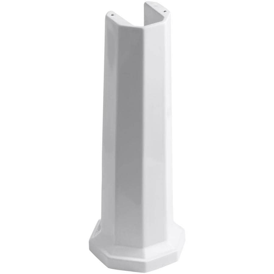 KOHLER Kathryn 28.42-in H White Fireclay Pedestal Sink Base