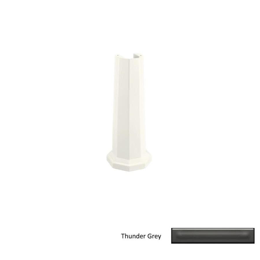 KOHLER Kathryn 28.42-in H Thunder Grey Fireclay Pedestal Sink Base