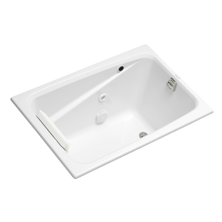 KOHLER Greek White Acrylic Rectangular Whirlpool Tub (Common: 32-in x 48-in; Actual: 23.375-in x 32-in x 48-in)