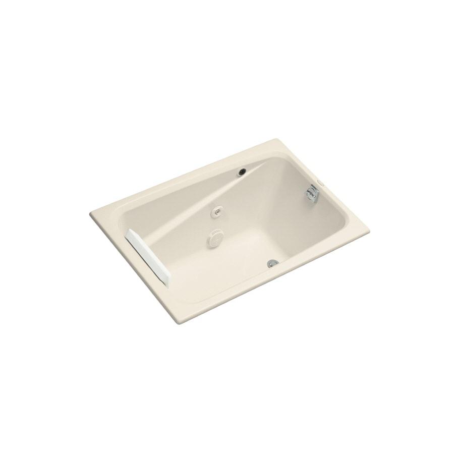 KOHLER Greek Almond Acrylic Rectangular Whirlpool Tub (Common: 32-in x 48-in; Actual: 23.375-in x 32-in x 48-in)