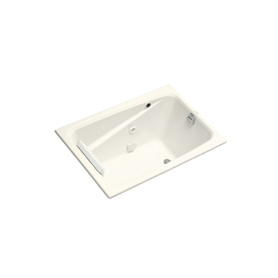 KOHLER Greek Biscuit Acrylic Rectangular Whirlpool Tub (Common: 32-in x 48-in; Actual: 23.375-in x 32-in x 48-in)