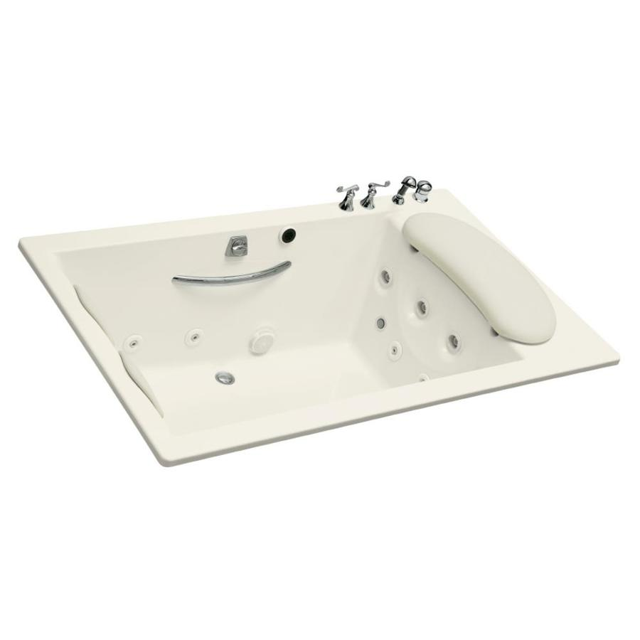 KOHLER Riverbath 2-Person Biscuit Acrylic Rectangular Whirlpool Tub (Common: 45-in x 75-in; Actual: 25-in x 45-in x 75-in)