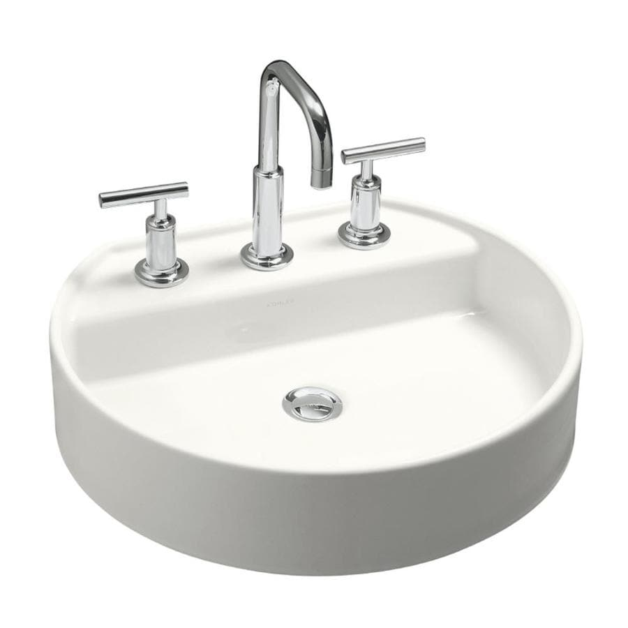 oval bathroom sinks drop in shop kohler chord white drop in oval bathroom sink at 23895