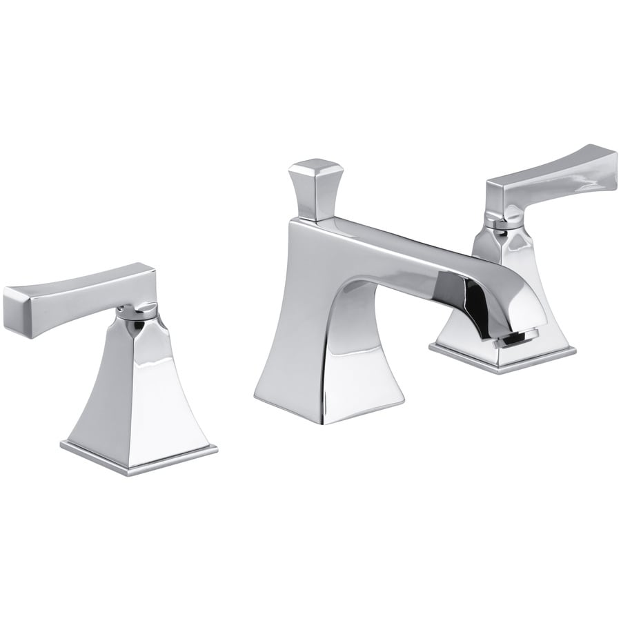 Shop KOHLER Memoirs Polished Chrome Handle Widespread WaterSense - Kohler bathroom faucet handles