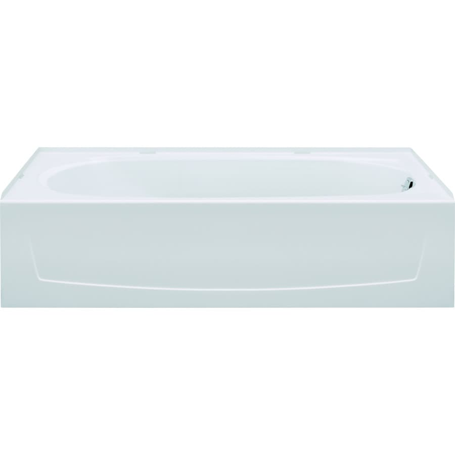 Sterling Performa White Vikrell Oval In Rectangle Alcove Bathtub with Right-Hand Drain (Common: 29-in x 60-in; Actual: 16.25-in x 29-in x 60-in)