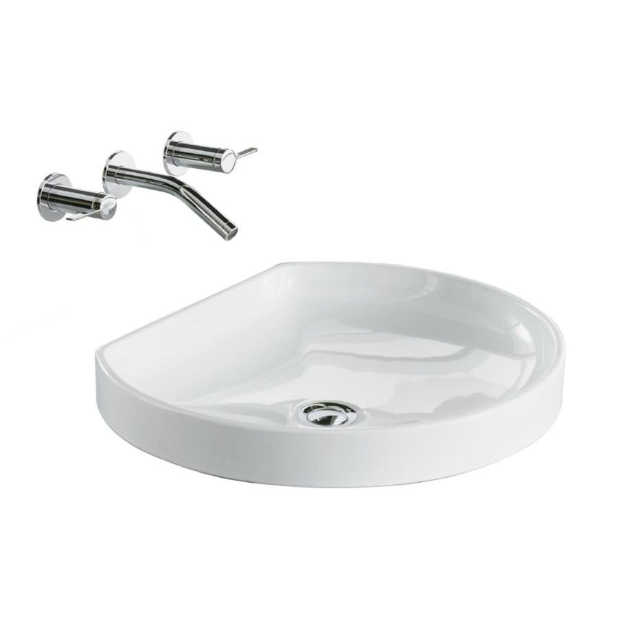 KOHLER WaterCove White Drop-in Round Bathroom Sink